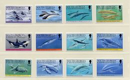 FALKLAND DEPENDENCES / Baleines Et Dauphins Superbe Série Complète 12 Valeurs Dentelées MNH Cote + 65.00 Vente 10 Euros - Islas Malvinas