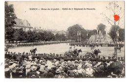 20979-LE-64-NANCY-Revue Du 14 Juillet-Défilé Du 5e Régiment De Hussards-----------animée - Nancy