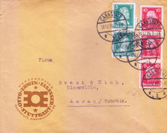 GERMANY : 1926 COMMERCIAL COVER : POSTED FROM CANNSTATT FOR AARAU / SCHWEIZ - Germany