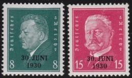 Deutsches  Reich   . Michel   .    444/445         .    **    .   POSTFRISCH     .   /  .    MNH - Ungebraucht