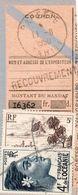 Coupon De Mandat-timbres Divers-11-8-1950--Papeete-Tahiti - Tahiti