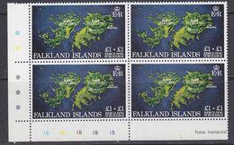 Falkland Islands 1982 Rebuilding Fund 1v Bl Of 4 (corner)  ** Mnh (37838C) - Falklandeilanden