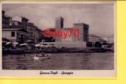 CARTOLINA POSTALE - POSTKART - GENOVA - GENOVA PEGLI LA SPIAGGIA  - VIAGGIATA  1938 - FORMATO PICCOLO - Genova (Genoa)