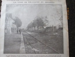 Guerre 14-18 La Gare De GRANDPRE ARGONNE - Francia