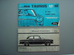 FORD TAUNUS 12 M Manuel Entretien  +  Manuel De Service 1964 - Auto/Moto