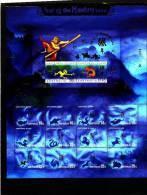 AUSTRALIA-CHRISTMAS ISLANDS-2004 YEAR OF THE MONKEY MS OVPT ANDA/APTA MINT NH - Christmas Island