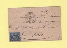 St Germain En Laye - 72 - Seine Et Oise - 1879 - Boite Rurale Supplementaire A2 - Type Sage - Sans Correspondance - 1877-1920: Période Semi Moderne