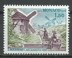MONACO , 1.50 Fr , Centenaire De L'inauguration De La Salle Garnier , Don Quichotte , 1979 , N° YT 1177 , NEUF ** - Monaco