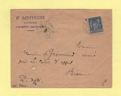 Champeix - Puy De Dome - Oblitération Bleue - 1888 - Type Sage - 1877-1920: Période Semi Moderne