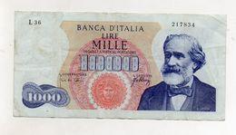 "Italia - Banconota Da Lire 1.000 ""Verdi ""- Medusa - 1° Tipo - Decreto 20.05.1966 - (FDC8661) - [ 2] 1946-… : Républic"