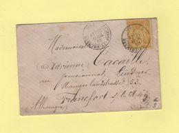 Toul - Meurthe Et Moselle - 1883 - Destination Allemagne - Type Sage - 1877-1920: Période Semi Moderne