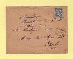 Autrecourt - Cote D Or - 1900 - Type Sage - Boite Rurale A - Sans Correspondance - 1877-1920: Période Semi Moderne