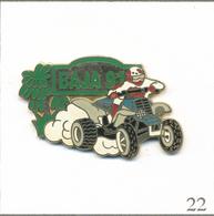 Pin's Moto - Rallye Raid Tout-Terrain Baja 1991 (Mexique) Avec Quad. Estampillé F Ferrier. Zamac. T579-22 - Motos