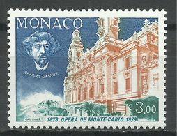 MONACO , 3 Frs , Centenaire De L'inauguration De La Salle Garnier , Charles Garnier , 1979 , N° YT 1180 , NEUF ** - Monaco