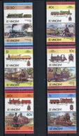 TRAINS - 1985 -  SAT. VINCENT - Mi. Nr. 808/819 -  NH -  (UP.70.41) - St.Vincent (1979-...)