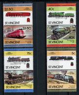 TRAINS - 1984 -  SAT. VINCENT - Mi. Nr. 770/777 -  NH -  (UP.70.41) - St.Vincent (1979-...)