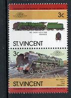 TRAINS - 1984 -  SAT. VINCENT - Mi. Nr. 772/773 -  NH -  (UP.70.41) - St.Vincent (1979-...)