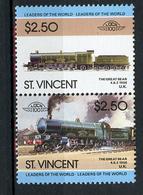 TRAINS - 1985 -  SAT. VINCENT - Mi. Nr. 818/819 -  NH -  (UP.70.41) - St.Vincent (1979-...)