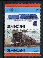 TRAINS - 1985 -  SAT. VINCENT - Mi. Nr. 728/729 -  NH -  (UP.70.41) - St.Vincent (1979-...)
