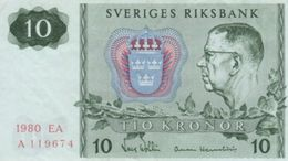 (B0398) SWEDEN, 1980. 10 Kronor. P-52e. VF - Svezia