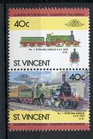TRAINS - 1984 -  ST. VINCENT - Mi. Nr. 772/773 -  NH -  (UP.70.41) - St.Vincent (1979-...)