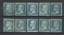 FRANCE - N°YT 181X10 OBLITERES - COTE YT :3€ - 1923/26 - 1922-26 Pasteur