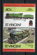 TRAINS - 1984 -  ST. VINCENT - Mi. Nr. 812/813 -  NH -  (UP.70.41) - St.Vincent (1979-...)