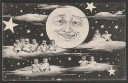 Enfants Bébés Multiples Lune Heureuse Et étoiles (Très Très Bon état) Y Ti 468) - Cartes Humoristiques