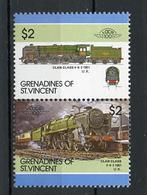 TRAINS - 1986 -  GRENADINES OF ST. VINCENT  - Mi. Nr. 470/471 -  NH -  (UP.70.41) - St.Vincent E Grenadine
