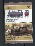 TRAINS - 1986 -  GRENADINES OF ST. VINCENT  - Mi. Nr. 472/473 -  NH -  (UP.70.41) - St.Vincent E Grenadine