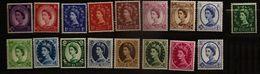 Grande-Bretagne 1958 N° 327 / 42 - 333 Inc **/* Fleurs, Roses, Couronne, Bijoux, Elizabeth II, Boucles D'oreilles, Reine - Nuovi