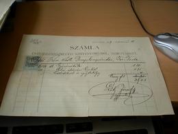 Temesvar Szamla Csanadi Egyhaz 1899 - Facturas & Documentos Mercantiles