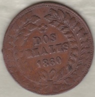ARGENTINE. BUENOS AIRES. 2 REALES 1860. Copper .KM# 11 - Argentina