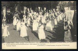 Z08 - Assche - 600 Jarige Jubelfeesten Der Mirakuleuze Kruisen (1912) - 4 - Groep Meisjes Bloemenkransen - Ongebruikt - Asse