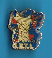 1 PIN'S  //    ** G.E.T-L'ÉLECTRICITÉ ** - EDF GDF