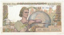10000 Francs Génie Français Type 1945, F50.72, P132, 04/11/1954, F.7582, TB - 10 000 F 1945-1956 ''Génie Français''