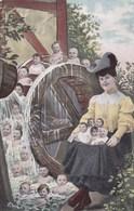 Humour, Fantasy, Baby's, Bébés, Baby's In Water Wheel (pk43948) - Cartes Humoristiques