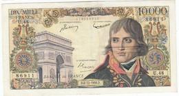 10000 Francs Bonaparte Type 1955, F51.06, P136, 06/12/1956, U.48, TB+ - 1871-1952 Anciens Francs Circulés Au XXème