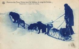 Canada    Missions Des Pères Oblats Dans Les Champs De Neige Du Canada  Missionnaire A L' Assaut D'un Iceberg    I 2940 - Non Classés