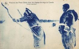 Canada    Missions Des Pères Oblats Dans Les Champs De Neige Du Canada  Archers Esquimaux  Eskimo     I 2941 - Non Classés