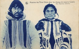 Canada    Missions Des Pères Oblats Dans Les Champs De Neige Du Canada  Deux Esquimaux Convertis    Eskimo     I 2943 - Non Classés