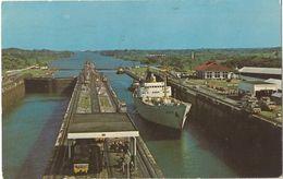 6Rm-012: Gatun Locks - Panama Cannal View  From Control Tower 1974.. > Oostende De Postzegel Is Weg.. - Panama