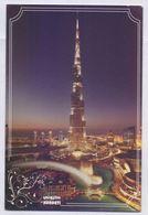 POSTCARD - World Tallest Building BURJ KHALIFA Night View, UAE United Arab Emirates, Unused POST CARD - Emiratos Arábes Unidos