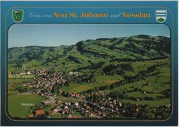 Gruss Aus Neu St. Johann Und Nesslau - Flugaufnahme - SG St. Gall