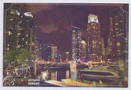 POSTCARD - DUBAI Night View, UAE United Arab Emirates, Unused POST CARD - United Arab Emirates
