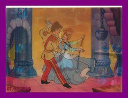 Théme Walt Disney * Carte Vision Relief * Ps 225  Cendrillion    ( Voir Scans Recto-Verso ) - Sonstige