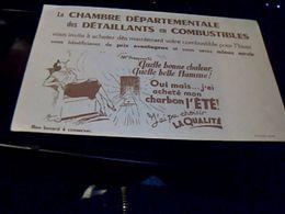Buvard  Chambre Departementale  Des Detaillants En  Combustibles - Blotters