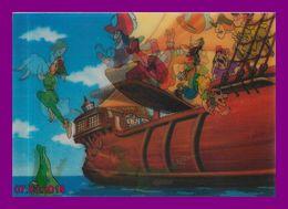 Théme Walt Disney * Carte Vision Relief *  Ps 224     Peter Pan   ( Voir Scans Recto-Verso ) - Sonstige