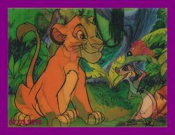 Théme Walt Disney * Carte Vision Relief *  Ps 230 Timon Et Simba    ( Voir Scans Recto-Verso ) - Sonstige