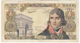 10000 Francs Bonaparte Type 1955, F51.07, P136, 04/04/1957, Q.64, B - 1871-1952 Anciens Francs Circulés Au XXème